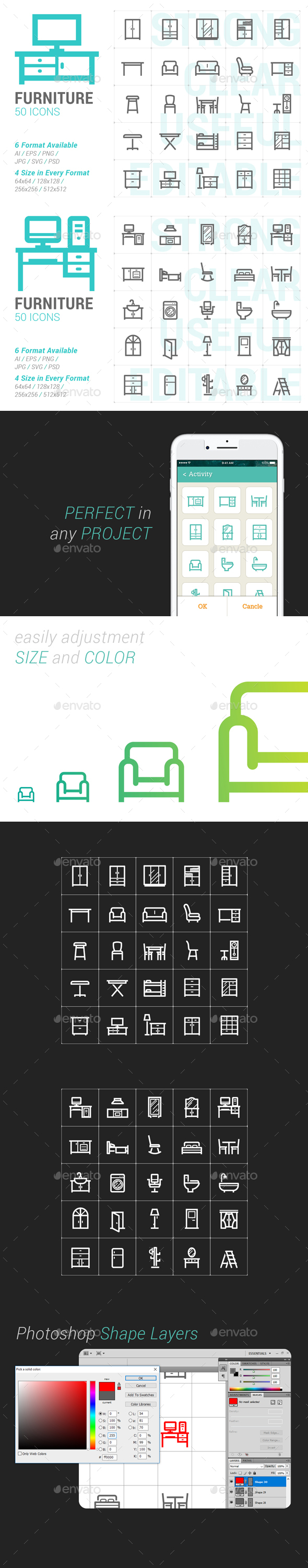 Furniture Mini Icon - Objects Icons