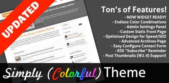 Simply (Colorful) - Blog / Magazine WordPress