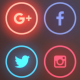 Social Media Pattern Neon Background - VideoHive Item for Sale