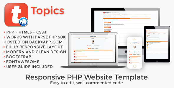 Topics | PHP Social Discussion Web Template - CodeCanyon Item for Sale