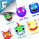 Neon Monster Creation Kit - GraphicRiver Item for Sale