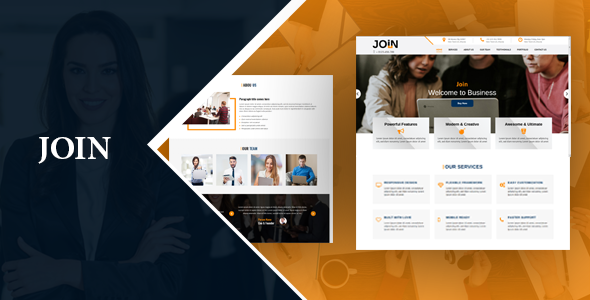 Join One Page HTML Landing Page - Corporate Landing Pages