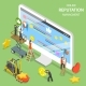 Reputation Management Flat Isometric Vector. - GraphicRiver Item for Sale