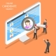 Online Candidate Search Flat Isometric Vector. - GraphicRiver Item for Sale