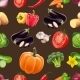 Seamless Pattern with Vegetables. - GraphicRiver Item for Sale