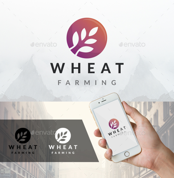 Modern Wheat Logo - Nature Logo Templates