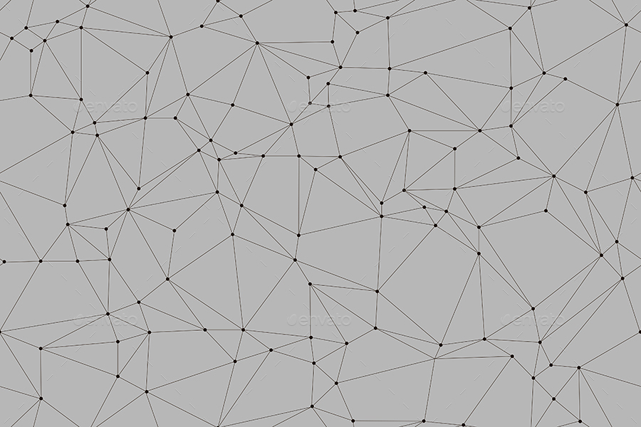 Outline Polygon with Connected Dots Seamless Patterns / Backgrounds