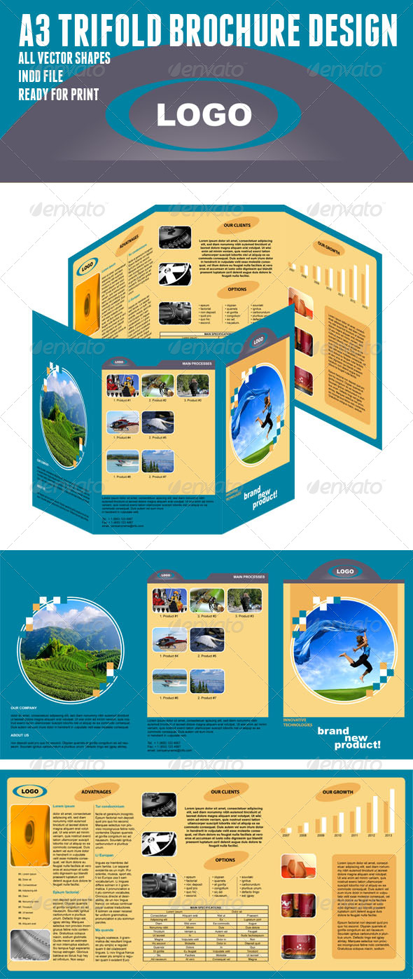 A3 Trifold Brochure - Corporate Brochures