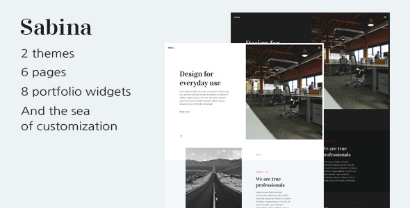 Image of Sabina — HTML Template For Digital Agency With Portfolio And Blog