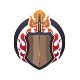 Medieval Sword and Shield Logo