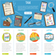 Tax and Business Accounting Infographics