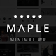 Maple | Clean Minimal Multi-Purpose WordPress Theme - ThemeForest Item for Sale