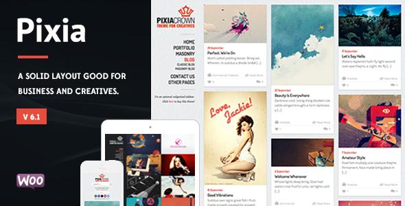 Pixia - Showcase WordPress Theme - Creative WordPress