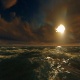Ocean And Big Sun At Sunset - VideoHive Item for Sale