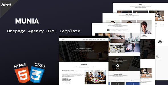 Image of Munia - Creative Agency HTML Template