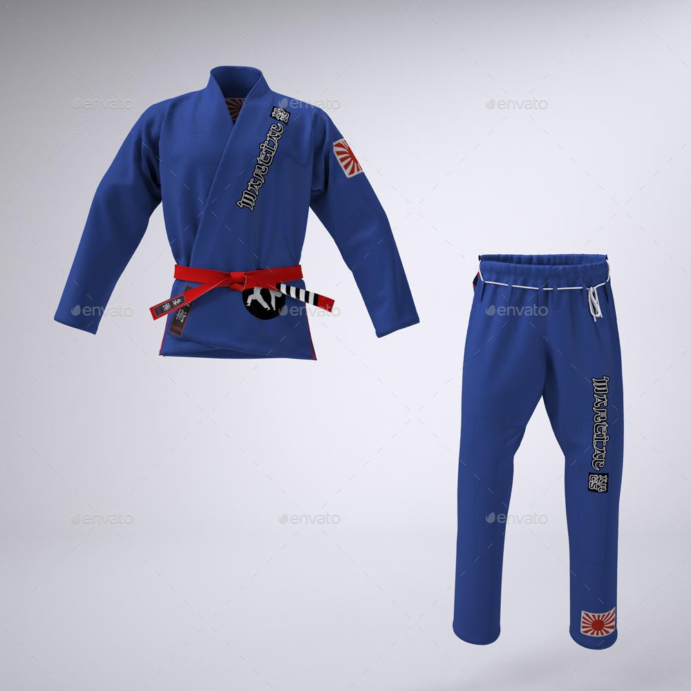 Brazilian Jiu-Jitsu Gi or Martial Arts Uniform Mock-up by Sanchi477