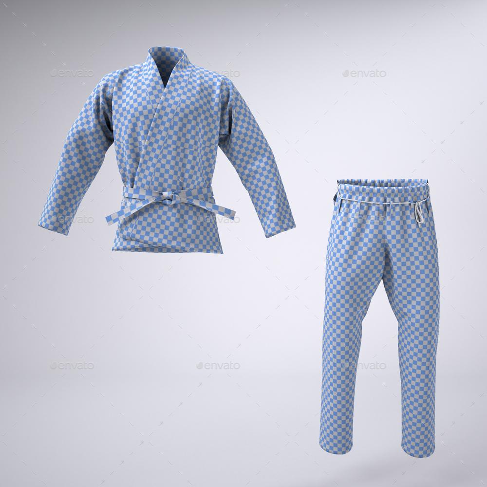 Brazilian Jiu Jitsu Gi Or Martial Arts Uniform Mock Up By Sanchi477
