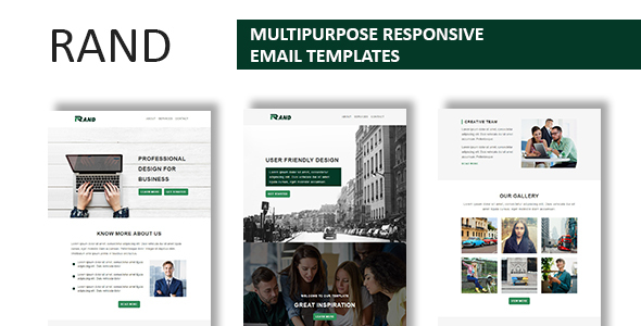 Image of Rand - Multipurpose Responsive Email Template With Online StampReady Builder Access