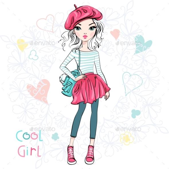 Fashionable Girl - People Characters