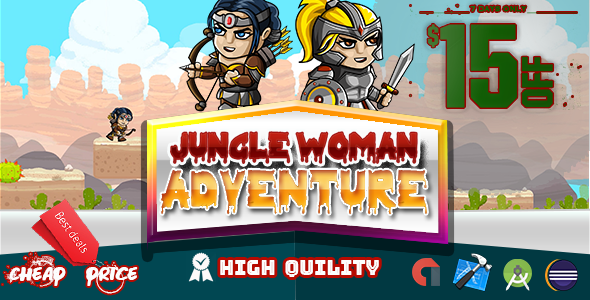 Jungle Woman Adventure RUN  (Admob + Xcode Project ) - CodeCanyon Item for Sale