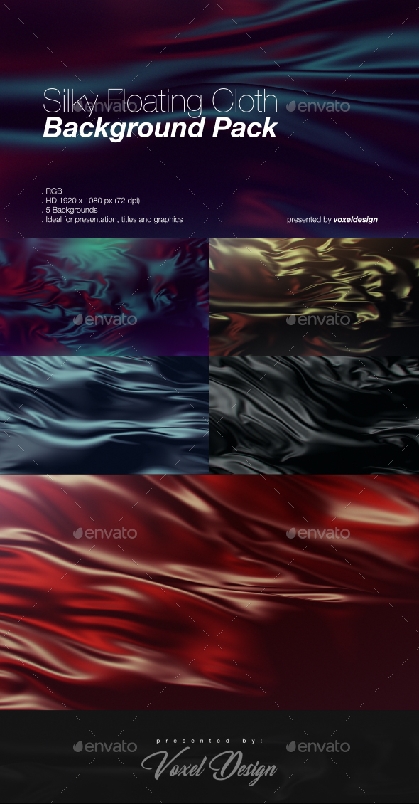 Silky Floating Cloth Backgroud Pack - Backgrounds Graphics