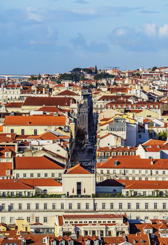 Skyline of Lisbon - Stock Photo - Images