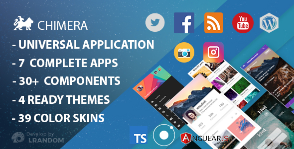 Chimera - Full Multi-Purpose Ionic 3 App, Theme, Component            Nulled