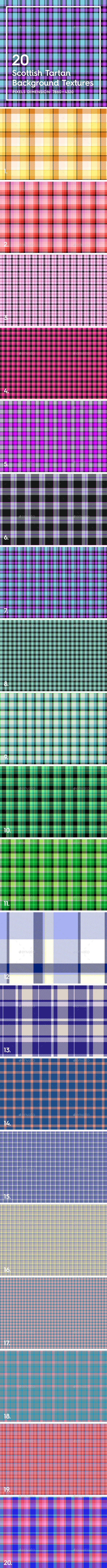20 Scottish Tartan Backgrounds
