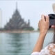 Tourist Woman Taking Photo Picture of the Asian Temple - VideoHive Item for Sale