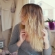 Girl Takes Care of Her Hair - VideoHive Item for Sale