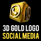 3D Gold Logos Social Media - VideoHive Item for Sale