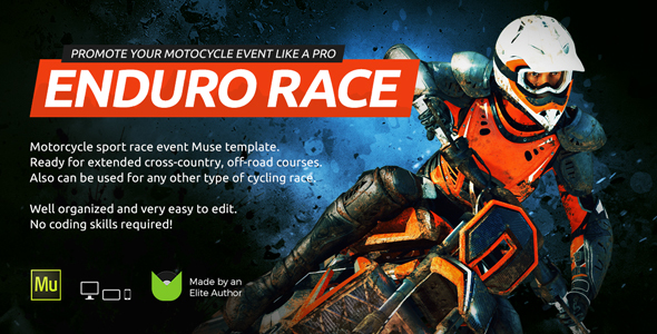 Enduro - Extreme Motorcycle Race Event Website Muse Template - Miscellaneous Muse Templates