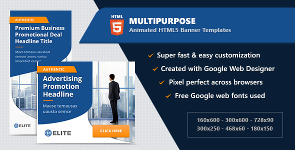 HTML5 Banner Ads - Multipurpose Animated Templates            Nulled