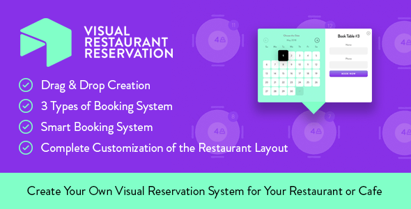 Visual Restaurant Reservation -  WordPress Booking System            Nulled