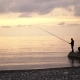 Father and His Kid Fishing at a Sea Shore - VideoHive Item for Sale