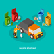 Waste Sorting Isometric Composition
