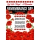 Poppy Remembrance Day 11 November Vector Poster