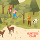 Hunters Club Isometric Poster