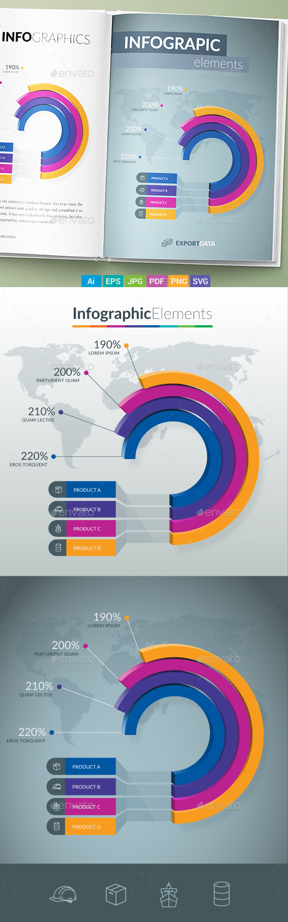 Infographic Elements - Pie Chart - Infographics