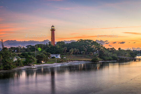 Jupiter Inlet Light House - Stock Photo - Images