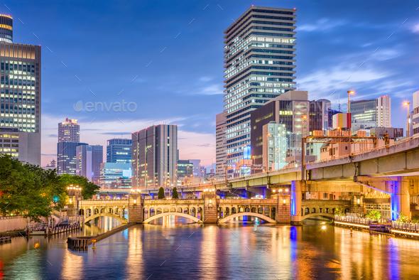 Osaka, Japan Cityscape - Stock Photo - Images