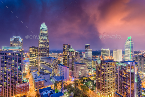 Charlotte, North Carolina Skyline - Stock Photo - Images