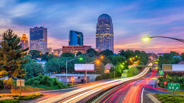 Winston-Salem, North Carolina, USA - Stock Photo - Images