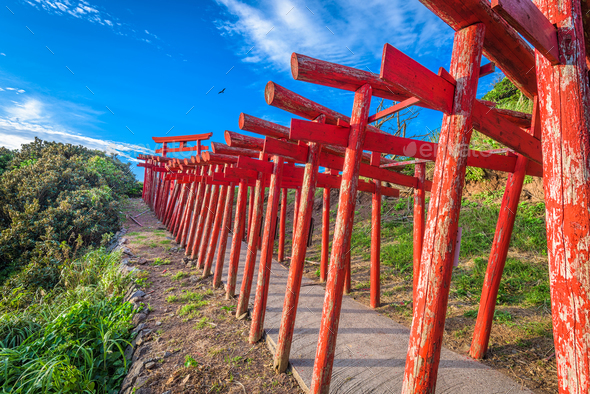 Motonosumi Shrine, Japan - Stock Photo - Images