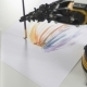 Slide Shot of Robot Arm with Use Brush for Painting . Experiment with Intelligent Manipulator - VideoHive Item for Sale