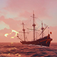 Ancient Frigate In The Sea - VideoHive Item for Sale