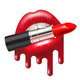 Red Lipstick in Mouth - GraphicRiver Item for Sale