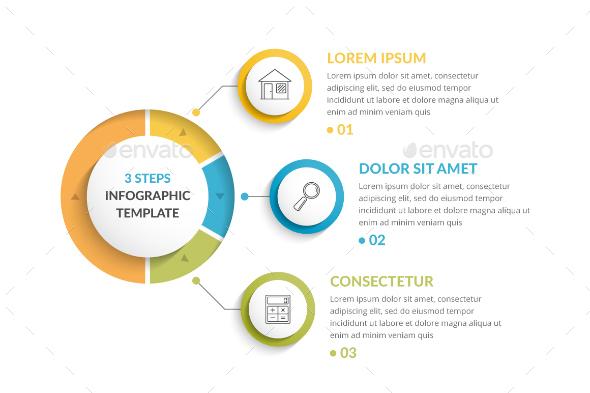 3 Steps Infographics - Infographics
