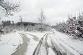 Crossroad in winter - PhotoDune Item for Sale