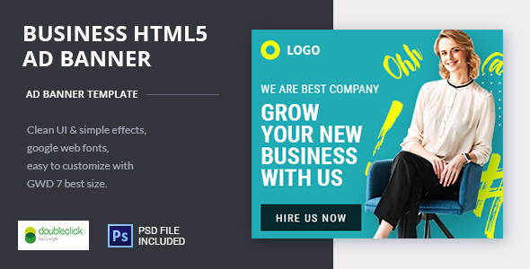 Business | HTML5 Google Banner Ad 20            Nulled